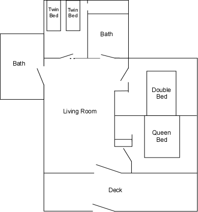Cabin 15 floor plan