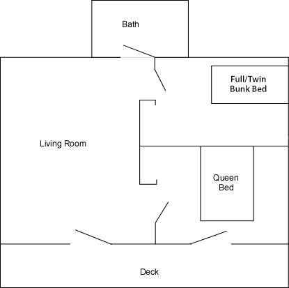 Cabins 9 & 10 Floor Plan