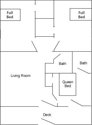 Cabins 1 & 2 Floor Plan