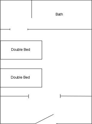 Cabins 3 and 8 floor plan