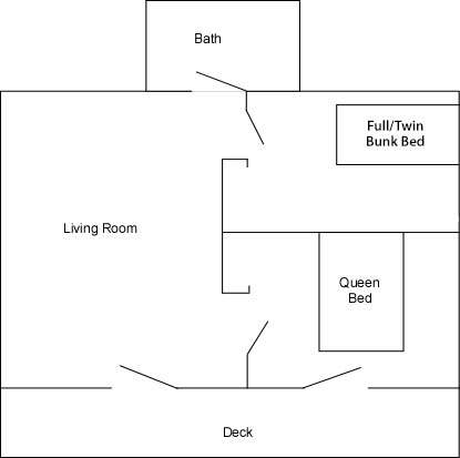 Cabins 9 & 10 Floor Plan