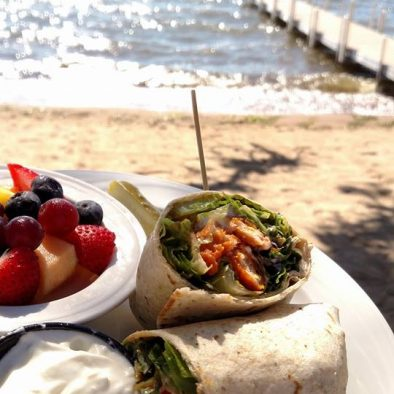 Wrap by the beach. Ruttger's Birchmont Lodge in Bemidji, MN