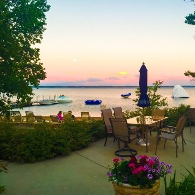 Sunset Lakeview Patio @ Ruttger's Birchmont Lodge on Lake Bemidji