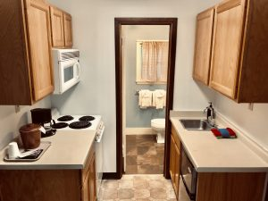 #6 Kitchen into Bathroom View